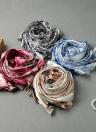 Nouveau Mode Femmes Foulard en soie Motif d'impression spéciaux Châle long vintage élégant doux Cap