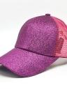 Mädchen Cap Pailletten Fischnetz Spleiß Baseball Sport Casual Hip-Pop Streetwear flachen Hut