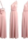 Sólido Stretchy conversível Multi Way Cross Strap Bridesmaid Maxi Dress