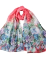 Floral Print Combine Scarf Cover Up