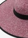 Mode féminine Chapeau de soleil Chapeau de paille Brim auto-cravate large massif Summer Sunbonnet Plage Chapeau de Panama