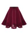 Falda midi plisada de mujer quemar cintura alta