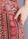 Femmes Imprimer Loose Maxi Dress Side poche fente Baggy longue robe