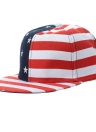 Nuevo casquillo de las mujeres de los hombres de la bandera americana EE.UU. impresión de la letra de Hip-Pop Snapback sombrero plano gorra de béisbol Rojo / Negro
