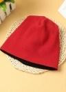 Nouveau Femmes Hommes Fleece Hat Cap Solid Color Beanie Chaud Skullcap Headwear
