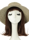 Bowknot Large Rolled Brim Foldable Summer Straw Hat