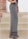 Pantalones anchos de las mujeres ahuecan la cintura elástica inferior del cordón