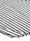 Новое Европейское Женское Платье Контрастная Полоса Круглый Воротник Асимметричный Подол Три Четверти Рукава Повседневное Платье Синий / Фиолетовый