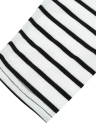 Casual Contrast Stripe Round Neck Asymmetric Hem 3/4 Sleeve Dress