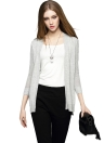 Anself Elegant Three Quarter Sleeve Knitted Cardigan