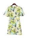 Elegant Fresh Summer Floral Print Dress