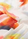 Floral Print V-Neck Pleated Beach Maxi Dress