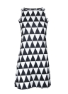 Sexy Geometric Print Sleeveless Shift Mini Black Dress