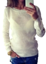 Knitted Hollow Long Sleeves Sweater