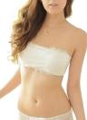 Femmes sans fil Dentelle Bra Bandage Padded bretelles réglables Retour Thin Crop respirante Bra Top Brassiere Sous-vêtements Noir / Blanc