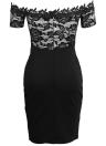 Women Bodycon Floral Lace Dress