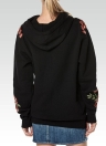 Femmes Loose Floral Broderie manches longues poches Sweatshirt