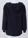 Fashion Women Hooded Cardigan Cashmere Solid Warm Knitted Outerwear Sweater Coat