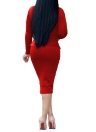 Vestido ajustado Midi mujer elegante