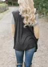 Women Casual Open Front Splicing Farbe drapieren Kragen Bertha lose lange Strickjacke Mantel