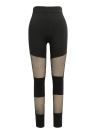 Femmes Fitness Yoga Sports Mesh Insert Collants Workout Courir Leggings Casual Skinny