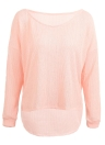 Women Casual Loose One Shoulder Long Sleeve Solid Thin Knitted Sweater