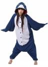 Animal Shark Мультфильм Косплей Теплый фланель Женщины Pajama