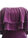 Новый сексуальный Женщины Velvet Bodycon платье без бретелек Choker Раффлед Overlay рукавов Тонкий Оболочка платье партии