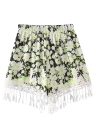 Loose Summer Print Elastic Waist Women's Shorts