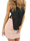 Sexy  V-Neck Solid Sleeveless Casual Vest