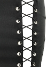 Sexy Lace-Up Höhle aus Bandage High Taille Frauen Bodycon Rock