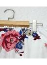 Sexy Off hombro corto Rompers Boho Floral Slash cuello de las mujeres Jumpsuit