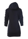 Fashion Long Sweatshirts Langarmtaschen Solid Women's Hoodies