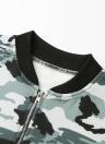 Fashion Camouflage Zipper Baseball Coat Casual Women's Jacket