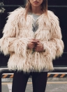 Fashion Faux Fur Autumn Winter  Long Sleeve Women's Outerwear