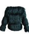 Moda Faux Fur Otoño Invierno de manga larga Mujer Prendas de abrigo