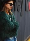 Fashion Faux Fur Autumn Winter  Long Sleeve Women's Outerwear