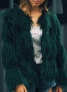 Mode Faux Pelz Herbst Winter Langarm Frauen Oberbekleidung