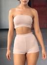 Sexy Bodyless Backless Bodycon Set de deux pièces