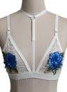 Женская кружевная сетка с цветочными вышивками