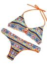 Neue Sexy Frauen Bikini Set Print Halfter drahtlose gepolsterte zwei Stück Anzug Strandbad Bademode Badeanzüge