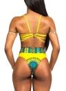 Frauen Sexy Bandage Retro Ethnic Bedruckte Riemchen Bikini Set