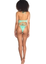 Bikini sexy infradito con caviglie e vita bassa