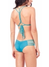 Bikini Solid Triangle Lace Up Set da donna