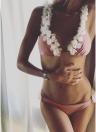 Sexy Frauen Bikini Set Halter 3D Blume Applikationen Bandage Wireless Badeanzug Badeanzüge Zweiteiler