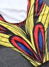 Costume da bagno intero donna sexy Costumi da bagno African Totem Stampa Costume da bagno imbottito push-up monokini Bikini