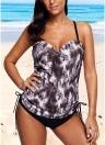 Mode Frauen Riemchen Tankini Bikini Set Leopardenmuster Low Waist Thong Zwei Stücke Badeanzug Bademode