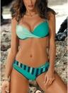 Bikini push up imbottito in contrasto con colori a contrasto