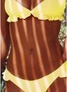 Completo bikini elasticizzato con imbottitura push-up in tinta unita
