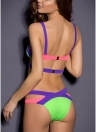 Bikini mujer Trangle vendaje conjunto Push-Up recorta bañadores sin espalda